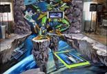 3D立体诺基亚N8地画 香港手绘大师精彩绘制